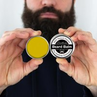 Wholesale new beard styles - New Small Size Natural Beard Conditioner Beard Balm For Beard Growth And Organic Moustache Wax For Whiskers Smooth Styling
