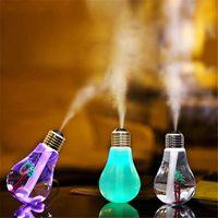 ingrosso lampadina di bottiglia-USB Umidificatore ad ultrasuoni Home Office Mini Aroma Diffusore LED Luce notturna Aromaterapia Nebulizzatore Lampadina per bottiglia creativa