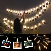 Wholesale led pictures wholesale - USB LED Light Photo Picture Clips String Lights Wedding Party Christmas Home Decor Wall Decoration Lights