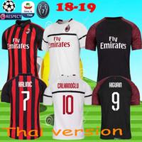 jersey milán menez al por mayor-Camisetas de fútbol de AC de calidad tailandesa de 18 19 MENEZ BONAVENTURA BACCA BERTOLACCI Camisetas de fútbol de ACEPTABLE camisas camisetas jersey de fútbol de Milan 2017
