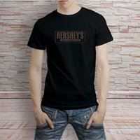 Wholesale rich black printing - Hersheys Milk Rich Chocolate Distressed Logo Black T-Shirt Tee