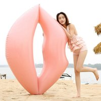 Wholesale inflatable float tubes - Lips Giant Inflatable Floats Tubes 180*160cm Swim Ring Float Pool Toys Kiss Raft Water Fun Toy 5pcs OOA4572