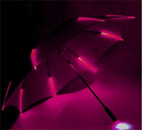 ingrosso colore soleggiato-Colorful Blade Runner Night Protectio Ombrelli Multi Color LED Light Sunny Rainy Umbrella Vendita calda 38jn Y R