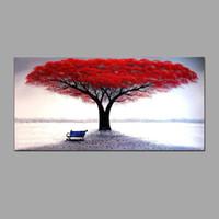 ingrosso dipinti figure signore-Dipinti ad olio dipinti a mano Vita rossa Albero della vita Immagini di arte della parete Per soggiorno Decorazioni per ufficio CX3