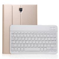 housse pour clavier pour samsung galaxy tab achat en gros de-Ultra mince étui en cuir PU intégré dans la couverture de clavier Bluetooth sans fil amovible pour Samsung Galaxy Tab S4 10.5 T830 T835 Tablet A830 + stylet