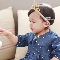 prenses taç yayı toptan satış-Kızlar Prenses Headbands Çocuk Şapkalar Bow Crown Çocuk Saç Aksesuarları