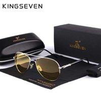gafas polarizadas amarillas al por mayor-Mens gafas de sol polarizadas de conducción nocturna hombres diseñador de la marca de lentes amarillas de visión nocturna gafas de conducción gafas reducir el resplandor