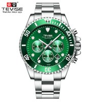 tevise роскошные мужчины оптовых-TEVISE Watches Men  Chronograph Man Sports Watch Waterproof Stainless Steel Quartz Wristwatches Relogio Masculino