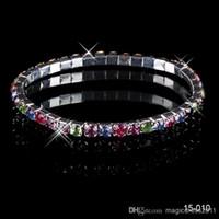 Wholesale rhinstone bracelet - 2018 New Most Popular Best Selling Elastic Sliver Rhinstone Crystal Stretchy Pearl Cheapest Wedding Bracelets Party Bridal Jewelry 15010