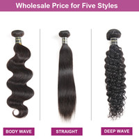 Wholesale sale peruvian hair extensions resale online - Factory Directly Sale Cheap Mink Brazilian Virgin Hair Straight Deep Body Water Wave Kinky Curly Human Hair Extensions Hair Wefts