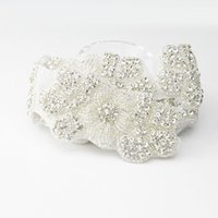 Wholesale decorations for parties weddings prices resale online - Support Factory Price Rhinestone Applique Trim For Wedding Party Baby Home Garden Decoration Hot Fix Rhinestone Trim