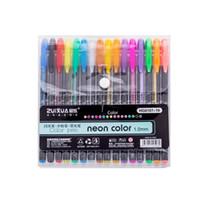 cores fluorescentes venda por atacado-16 Cor pcs caneta neutra 1.0mm neon cor Criativa multi-cor terno caneta flash giz de água estudo escritório fluorescente