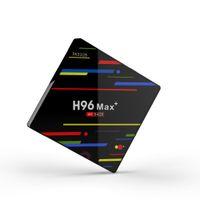 ingrosso quad negozi-2018 Smart TV Box Android 8.1 Rockchip RK3328 4GB Supporto da 32 GB 4K con Google Play Store Netflix Youtube H96 Max Plus