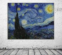 lona abstrata do óleo da paisagem venda por atacado-ZYXIAO paisagem abstrata star impressão pintura a óleo da parede da arte imagem impressão em tela sem moldura para o quarto de estar em casa decoração de mosaico presente ys0191