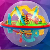 Wholesale intellect toys for sale - Small Size D Magic UFO Intellect Maze Ball Toys Children Early Childhood Labyrinth Intelligence Toys Balls Hand Eye Coordination bx W