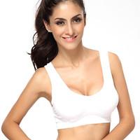 push up boob cup achat en gros de-Vente en gros-Femmes Shear Seamless Vest Bra Tops Sous-vêtements Casual Bras 3 Couleurs 7644