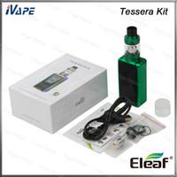 w atomizador al por mayor-Auténtico Kit de Eleaf Tessera con ELLO TS Atomizer 4mL Top-Fill Tessera Mod Buit-in de batería 150 W 3400mAh 1.45inch TFT Color Display