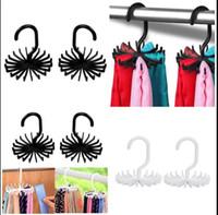 ingrosso armadio porta cintura-Tie Rack Hanger Belt Holder Gancio Closet Organizer Storage Rotante 20 Ganci Organizzazione Hangers Rack Holder KKA4487