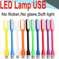 Wholesale reading tablets online - Mini LED USB Soft Read Light Computer Lamp Flexible Ultra Bright for Notebook PC Power Bank Partner Computer Tablet Laptop XMD