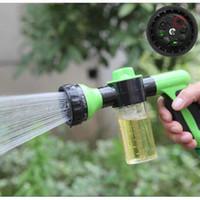 banyo muslukları duş başlıkları toptan satış-Bahçeler Spreyler Sprinkler Fırça Araba Köpük Tabancası Su Zoom Pet Bathe Plastik Çok Fonksiyonlu Banyo Duş Başlıkları Musluklar Accs GGA217 40 ADET