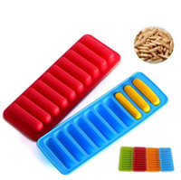 Wholesale finger hole - Finger mold silicone baking tray mold chocolate 10 hole long finger cake mold thumb biscuit cooking tool