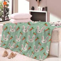 couvertures super douces adultes achat en gros de-Super doux Thicking Lapin couverture de carotte pour lit BeachTowel pour enfants adultes couverture jette drap de lit feuilles de voyage CB68