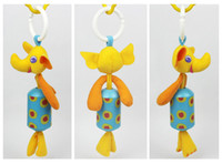 Wholesale baby chime rattles resale online - 27cm Styles Baby Doll Cheerful Rocking Wind Chimes Sound Soft Gentle Rattle Plush Toy Cute Animals Elephant Rabbit Learning