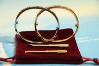 cadeaux pour l'amour achat en gros de-En acier inoxydable carter Amour Bracelets argent 18K plaqué or rose Bracelets Femmes Hommes Vis Tournevis Bracelet Couple Bijoux cadeau