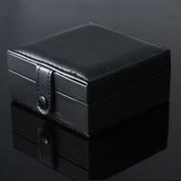 ingrosso orologi quadrati neri delle donne-Scatola porta orologi da polso con quadrante nero di lusso con pad in gommapiuma
