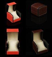 wrist watch gift box оптовых-PU кожаный часы коробка подарочные коробки, часы чехол с подушкой часы упаковка для браслет кольцо серьги наручные часы коробка