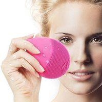 Wholesale vibrating massage resale online - 3 Colors Electric Face Cleanser Vibrate Pore Clean Silicone Cleansing Brush Massager Facial Vibration Skin Care Spa Massage CCA8725