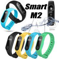 bluetooth akıllı bant toptan satış-M2 Akıllı Bilezik Akıllı Izle Monitör Bluetooth iOS Android için Smartband Sağlık Spor Bandı aktivite izci