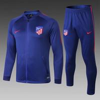 Wholesale psg atletico tracksuit soccer Training suit soccer wear adult GRIEZMANN F TORRES KOKE Madrid football jacket sets chandal