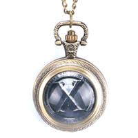 счастливые часы оптовых-Мода Китай традиционный Тай Чи логотип дизайн латунь карманные часы с цепью ожерелье повезло для мужчин женщин