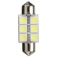 Wholesale red light emitting diode lamps resale online - Car Led Light mm mm SMD K White Small Car Interior Festoon Lamp Auto Voiture Dome Index Light emitting Diode Bulb