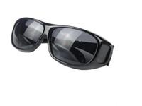 ingrosso occhiali da bicicletta gialli-150pcs HD Night Vision Driving Sunglasses Uomo Giallo Lens Over Wrap Around Occhiali Outdoor Cycling Dark Driving UV400 Occhiali protettivi