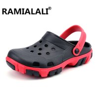 Wholesale Wholesale Flip Flops Buckle - Ramialali Summer Beach Sandals Men Outdoor Fashion Water Shoes Men Casual Flip Flop Breathable Sandalias Hombre Hollow Slippers