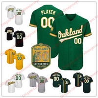 Wholesale kelly green shorts - Custom Oakland 50th 21 Jonathan Lucroy 25 Stephen Piscotty 10 Marcus Semien 2 Khris Davis 8 Jed Lowrie Any Name Kelly Green Baseball Jerseys