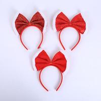 sombrero de princesa roja al por mayor-Heredar Calidad Clásica Red Bow Princesa Headwear Fiesta de Cumpleaños para Niños Sombrero Diadema Bola de Navidad Accesorios de Vestuario