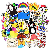 juguetes de coches de pared al por mayor-Random Cartoon Sticker Poster Wall 3D Stickers para Guitarra Portátil Skate Equipaje Motor Car DIY Impermeable Divertido Toy Sticker 50 / 100pcs / SET