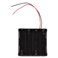 cableado de la caja de almacenamiento al por mayor-Soporte para caja de almacenamiento de batería de plástico para 4 x 18650 3.7 V con cables