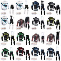 Wholesale Locking Pants - ORBEA team Cycling Winter Thermal Fleece jersey (bib) pants sets keep Warm lock temperature autumn and winter cycling sports wear F0715