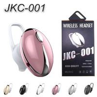 mini auriculares deportivos al por mayor-JKC 001 Auriculares inalámbricos con Bluetooth Solo oído V4.1 Deportes en el oído Mini auricular para teléfono móvil IOS Android