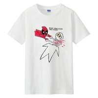 camiseta deadpool de marvel al por mayor-2018 New Marvel Comic Deadpool Camiseta Cosplay Wade Wilson Estilo de verano Algodón Impreso Hombres mujeres Camiseta Casual Divertido