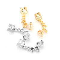 Wholesale coloured crystal chandeliers - Silver Gold Colour Crystal Earrings Skull Ear Clip Hanging Jewelry Silver Female Clip Fashion Earrings Gift D939L