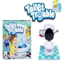 ingrosso grandi giocattoli w-Toilet Trouble Challeng Gioco divertente! w / Slow-Mo Flush Cam! Big Slime Stress Gag Scherzi pratici Giocattoli Lizun Kids Gioca ai giochi to348