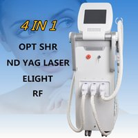 Wholesale laser hair machine q - portable spa OPT SHR Elight RF Nd Yag laser OPT SHR IPL laser hair removal clinic beauty machine Q Switch ndyag laser black doll equipment