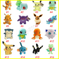 Wholesale Stuffed Animals Anime - Plush Dolls Ball 20cm Stuffed Pikachu Plush Toys Leafeon Glaceon Eevee Jolteon Vaporeon Flareon Espeon Umbreon stuffed animals surprise doll