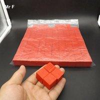 bildung pc spiele großhandel-Red 100 Stück 2 cm Holzwürfel Spiel Gadget Brain Teaser Common Sense Education Toys