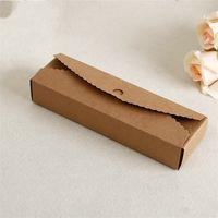 kare hediye kek toptan satış-Düğün Pastası Kraft Hediye Kutuları Yüksek Kaliteli Hediye Sarma Katlanır Kağıt El Yapımı Eko Dostu Kare Ambalaj Kutusu Depolama Diy 0 5 cm jj